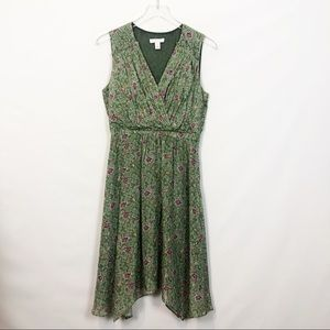 Nordstrom Green Jakarta Vine Silk Surplice Dress 4